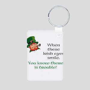 Irish eyes Aluminum Photo Keychain
