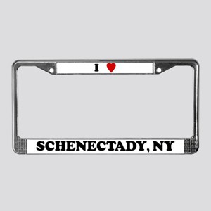 I Love Schenectady License Plate Frame