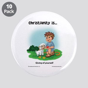 """Giving of Yourself 3.5"""" Button (10 pack)"""