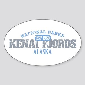 Kenai Fjords National Park AK Sticker (Oval)