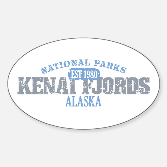 Kenai Fjords National Park AK Sticker (Oval)