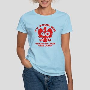 40th Birthday Polish Women's Light T-Shirt