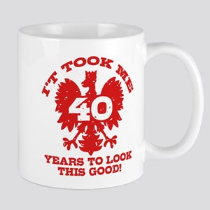 40th Birthday Polish Mug