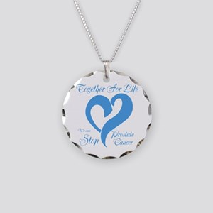 Stop Prostate Cancer Necklace Circle Charm