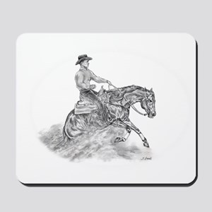 Reining Horse drawing Mousepad