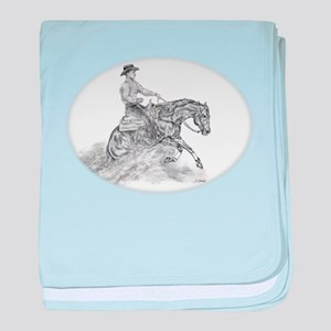Reining Horse drawing baby blanket