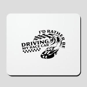 Racing My Race Car Mousepad