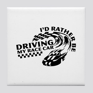 Racing My Race Car Tile Coaster