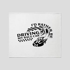 Racing My Race Car Throw Blanket
