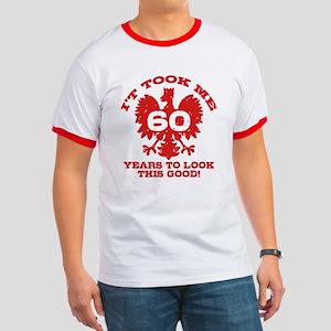 60th Birthday Polish Ringer T