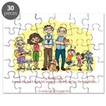 Puzzle with The Pretend Family and Sam