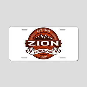 Zion Crimson Aluminum License Plate