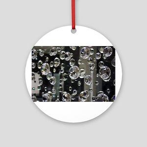 Diamond Mirror Ornament (Round)