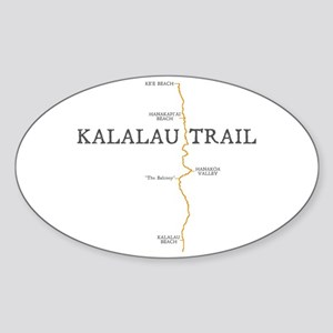Kalalau Trail Sticker (Oval)