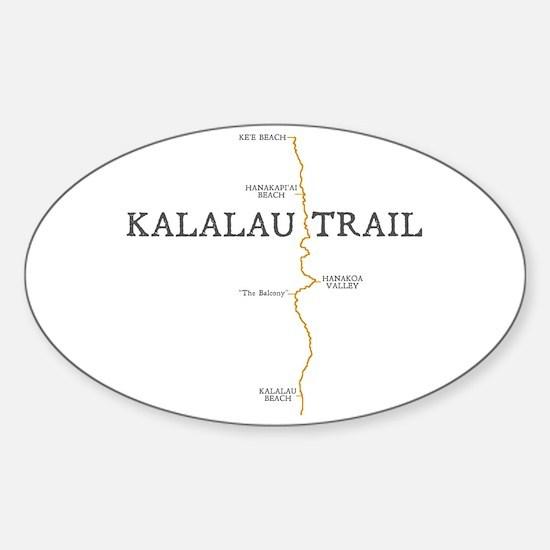 Kalalau Trail Sticker (Oval)