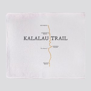 Kalalau Trail Throw Blanket