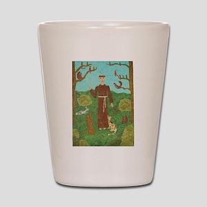 Saint Francis of Assisi Shot Glass