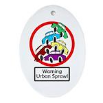 The Urban Sprawl Oval Ornament
