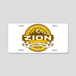 Zion Goldenrod Aluminum License Plate