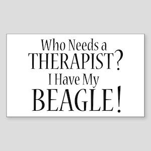 THERAPIST Beagle Sticker (Rectangle)