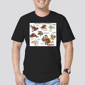 Octopus of the World Men's Fitted T-Shirt (dark)
