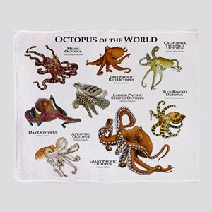 Octopus of the World Throw Blanket