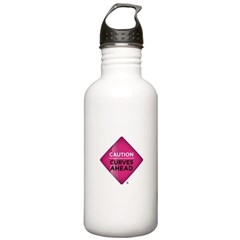 Stainless Caution Curves Ahead Water Bottle 1.0L