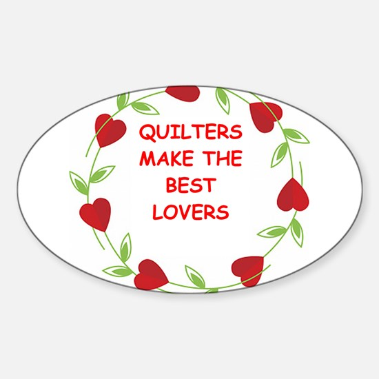 quilting Sticker (Oval)