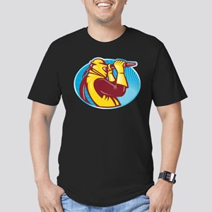 sandblaster sand blasting Men's Fitted T-Shirt (da