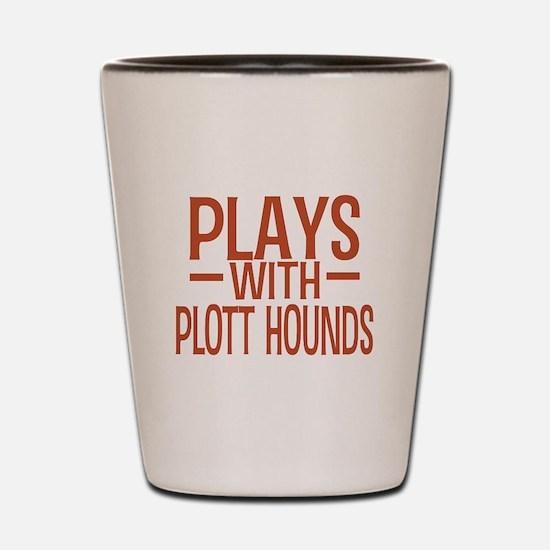 PLAYS Plott Hounds Shot Glass