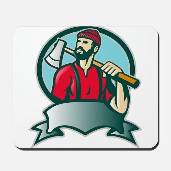 lumberjack woodcutter Mousepad