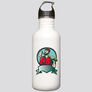 lumberjack woodcutter Stainless Water Bottle 1.0L