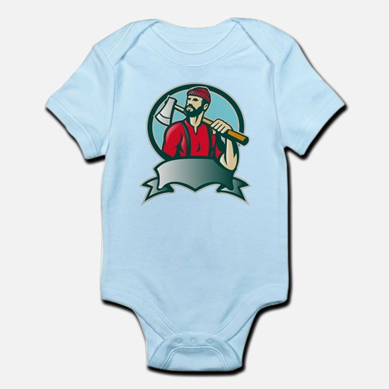 lumberjack woodcutter Infant Bodysuit