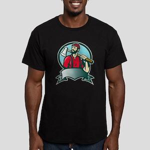 lumberjack woodcutter Men's Fitted T-Shirt (dark)
