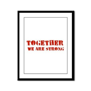 Strength in Numbers Framed Panel Print