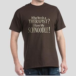 THERAPIST Schnoodle Dark T-Shirt