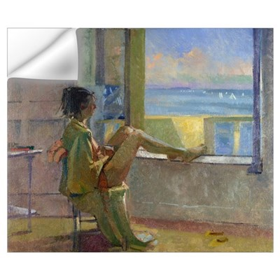 Watching the Regatta (oil on canvas) Wall Decal