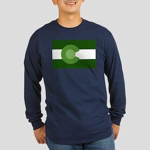 Green Colorado Long Sleeve Dark T-Shirt