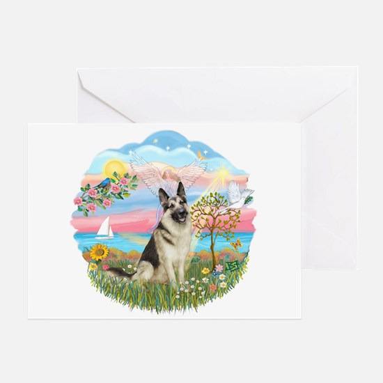 AngelStar-G Shep #9 Greeting Card