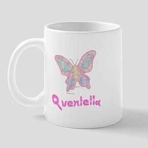 Pink Butterfly Quentetia Mug