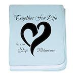 Stop Melanoma baby blanket