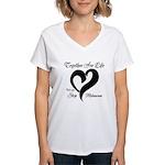 Stop Melanoma Women's V-Neck T-Shirt