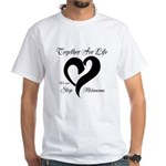 Stop Melanoma White T-Shirt