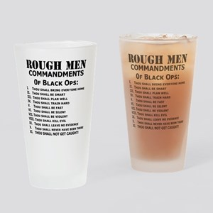 Black Ops Commandments Drinking Glass