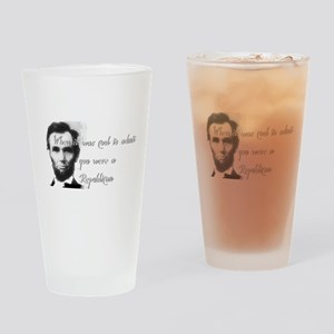 Cool Abe Drinking Glass