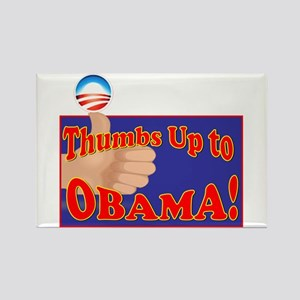 Thumbs Up Obama Rectangle Magnet (100 pack)
