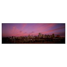 Canada, Alberta, Edmonton, City at dawn from Mutta Poster
