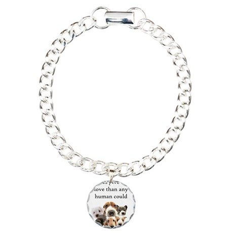 Love Of A Puppy Charm Bracelet, One Charm