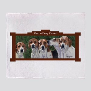 Foxhound Throw Blanket