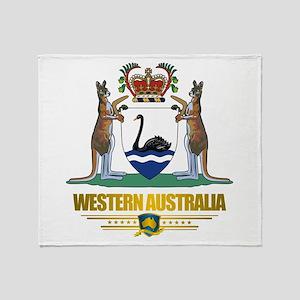 """Western Australia COA"" Throw Blanket"